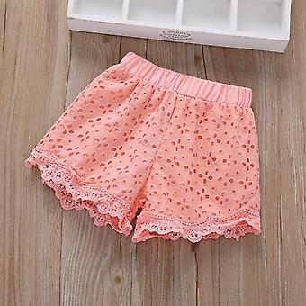 Cute Lace And Pocket Beach Pants