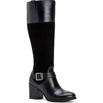 Giani Bernini Womens JESSAA Mixed Media Wide Calf Riding Boots