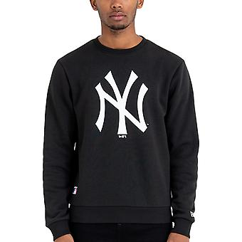 New Era New York NY Yankees MLB Logo Pullover Sweater Moletom Jumper - Preto