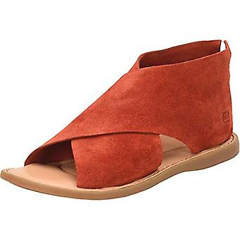 BORN Womens IWA Suede Open Toe Flats Red