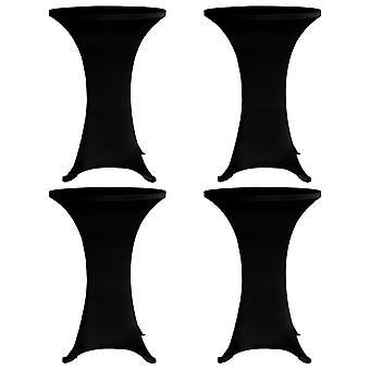 Standing table coughs 4 pcs. x 80 cm Black Stretch