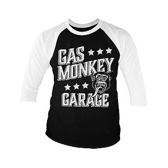 Gas Monkey Garage Baseball Shirt Monkeystars nouveau officiel Mens Black 3/4 Sleeve