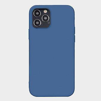 Blue iphone 12 pro soft silicone case