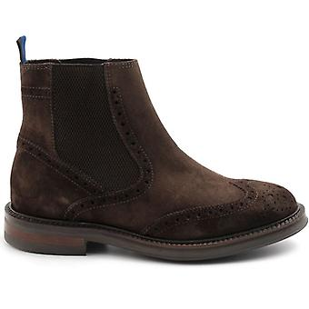 Men's Ankle Boot In Dark Brown Suede With Elastics