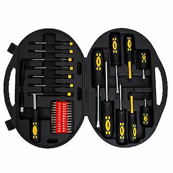 Rolson 42pc Screwdriver & Accessory Cross Head Philips / Slot & Precision Kit To