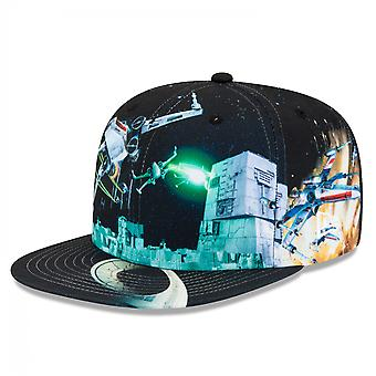 Star Wars Episode 4 Death Star Battle Scene New Era 59Fifty Fitted Hat