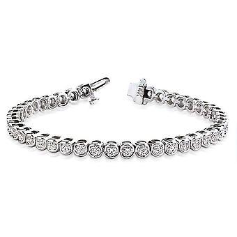 Runda Cut Bezel Diamond Armband 2,00 ct. tw.