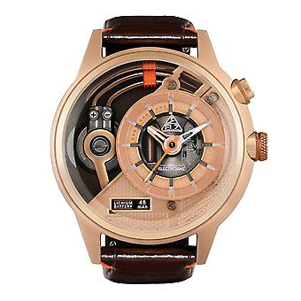 The Electricianz ZZ-A3C/03 The Soprano Z Brown & Rose Gold Leather Watch