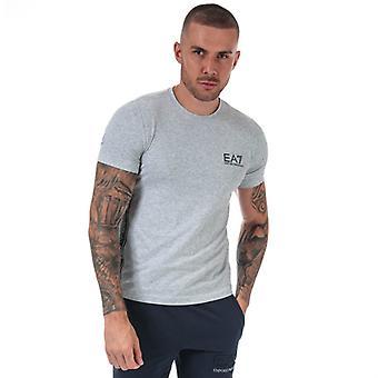 Men's Emporio Armani EA7 Logo Tape T-Shirt in Grey