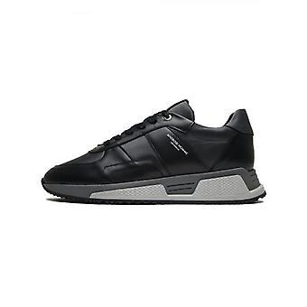 Android Homme Black Smoke Leather Nylon Matador Sneaker