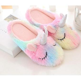 Plush Avocado Slippers Fruit -cute Pig Unicorn Warm Shoes