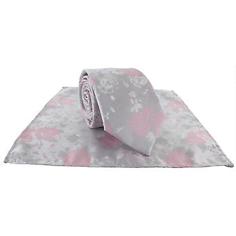 Michelsons av London Floral bryllup slips og pocket square sett - rosa