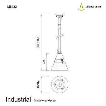 Mantra Industrial Pendant Small 1 Light