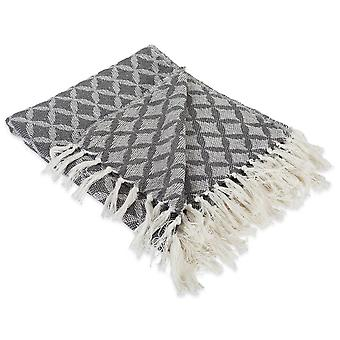 Dii Lattice Throw Mineral Gray Blanket