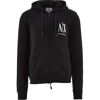 Armani Exchange Zwart Logo Sweatshirt