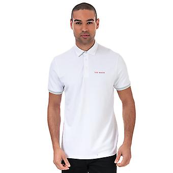 Men's Ted Baker Clubs Polo Shirt in White