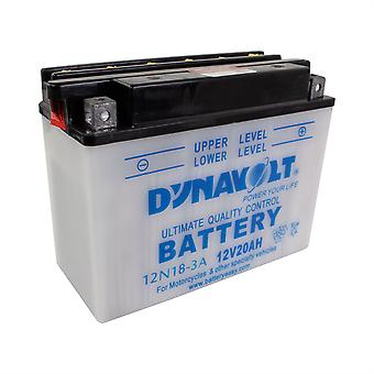 Dynavolt 12N183A Conventional Dry Charge Battery