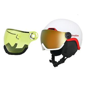 Casco da snowboard e maschera staccabile