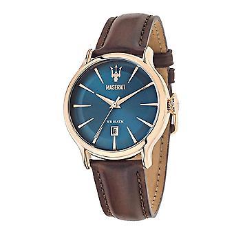 Maserati R8851118001 Men's Epoca Brown Strap Wristwatch