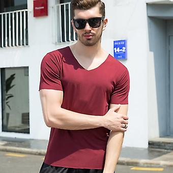 Ice Silk Short Sleeve Solid Color Seamless Underwear Clothing Close-fitting