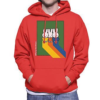 Miffy Klassiske farver Mænd 's Hætteklædte Sweatshirt