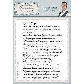 Sentimentally Yours Vintage Script A6 Background Stamp
