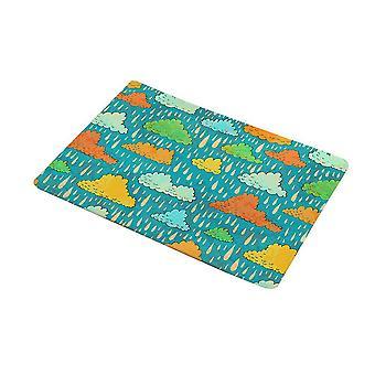 Water-absorbing anti-skid door mat, easy to clean, indoor and outdoor home decoration carpet, cartoon flannel door mat