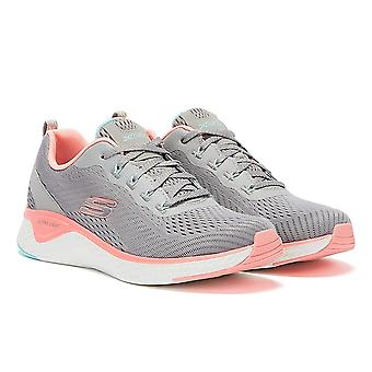 Skechers Solar Fuse Cosmic View Womens Grey / Pink Trainers