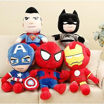 27cm Man Spiderman Plush Toys Movie Dolls Avengers Soft Stuffed Hero Captain America Iron Christmas Gifts
