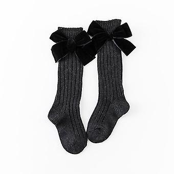 Lapset Vauvan polven korkeat sukat, for, Prinsessa tyyli, Heavy Neule taddle Puuvilla Pitkä