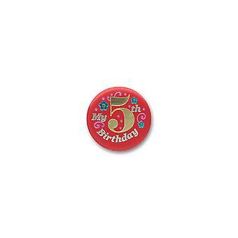 Mein 5. Geburtstag Satin Button (Pack von 6)