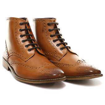 London Brogues Gatsby Hi Leather Mens Brogue Boots  AND COLOURS
