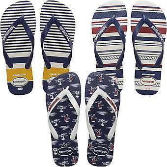 Havaianas Mens Top Nautical Casual Summer Beach Sandals Thongs Flip Flops
