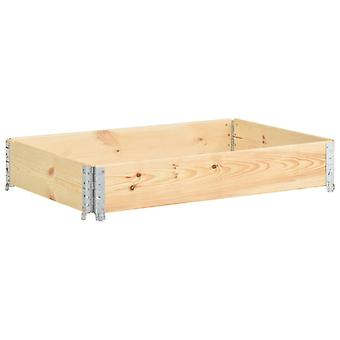 vidaXL Paletten-Aufsatzrahmen 80×120 cm Kiefern-Massivholz