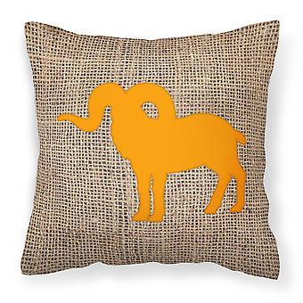 Caroline's Treasures Sheep Burlap & Orange Canvas Fabric Cuscino decorativo, 14 X 14, Multicolor
