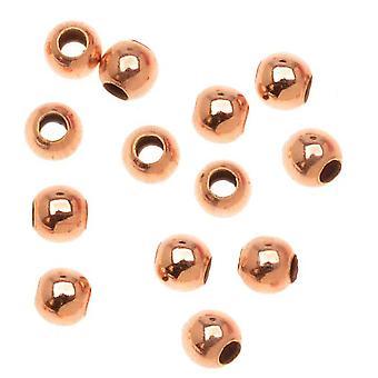 14K Ruusukulta täytetty sileä pyöreät vatsat 2mm halkaisija (20 kappaletta)