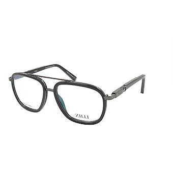 ZILLI glasögon Ram Titanacetat Frankrike Tillverkad ZI 60016 C02