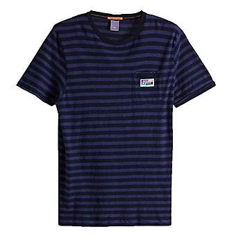 Scotch & Soda Classic Tee in Neps Jersey Quality T-Shirt, Multicolored (Combo B 0218), Small Man