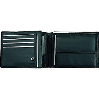 Alassio Portafoglio orizzontale in nappa, 12 x 9 x 2 cm, colore: nero