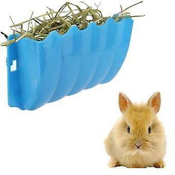 Kaninchen-Hänge-Futterstation für Gras, Wandmontage, Heuraufe in zufälliger Farbe