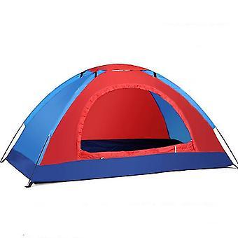 200x120x110cm teltat Ulkona Camping Kannettava Vedenpitävä Vaellusteltta Anti UV-teltta (punainen)
