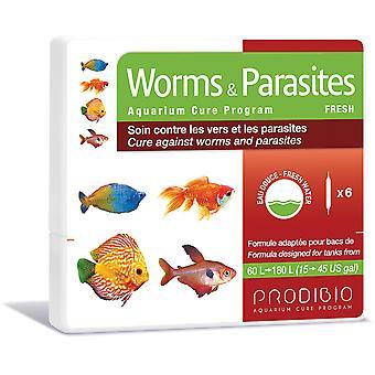 プロディビオワーム&寄生虫淡水6水疱(魚、メンテナンス、疾病管理)