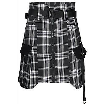 Punk Rave Rebel Tartan High Waisted Skirt