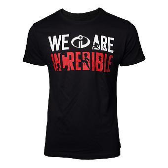 Disney - We Are Incredible Men's X-Large T-Shirt - Negro