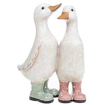 Davids Polka Dot Duckling Pair Ornamento