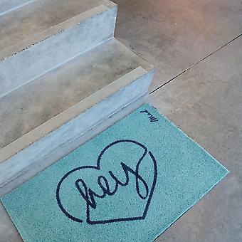 Suki Hey Washable Floor Mats In Aqua Blue