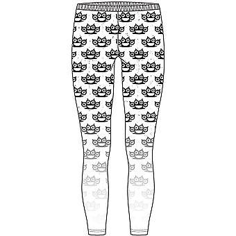Five Finger Death Punch - Knuckleduster Ladies Large-X-Large Fashion Leggings - Black,White