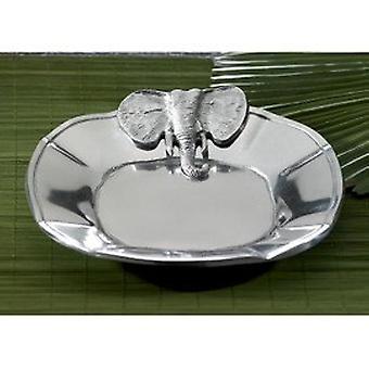Shiny Silver Elephant Serving Tray