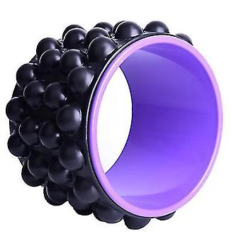 Yoga Wheel Backbend Dharma Wheel, Yoga Fitness Ring Pilates Ring(Black Purple)