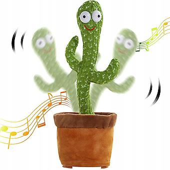 Funny Electric Dancing Plant Cactus Plush Stuffed Toy With Music Kids Gift